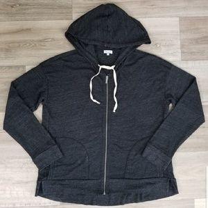 SPLENDID Hoodie Full Zip Sweatshirt Charcoal XL 🔴